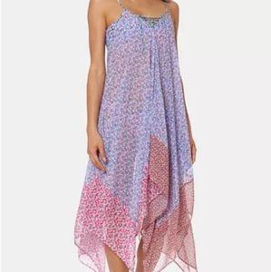 Jessica Simpson  Printed Handkerchief-Hem Cover-Up
